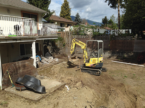 The Dirty Digger offers perimeter drain installation and repair services