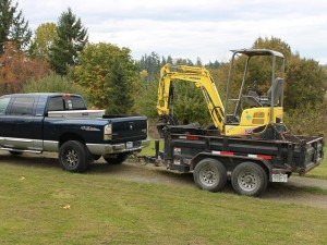 Dirty Digger Contracting Services - Vio 17 on Dump Trailer