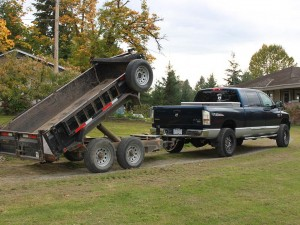 Dirty Digger Contracting Services - Truck and Dump Trailer