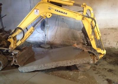 Take out old concrete?