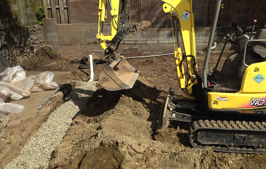 Dirty Digger Contracting Victoria Duncan BC Perimeter Drain Ditch Services