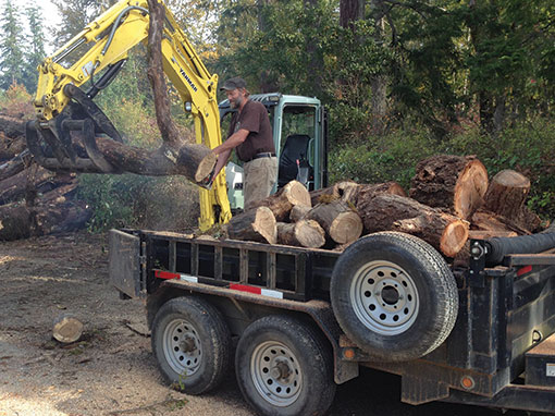 Firewood dirty digger contracting services for Demolition wood for sale